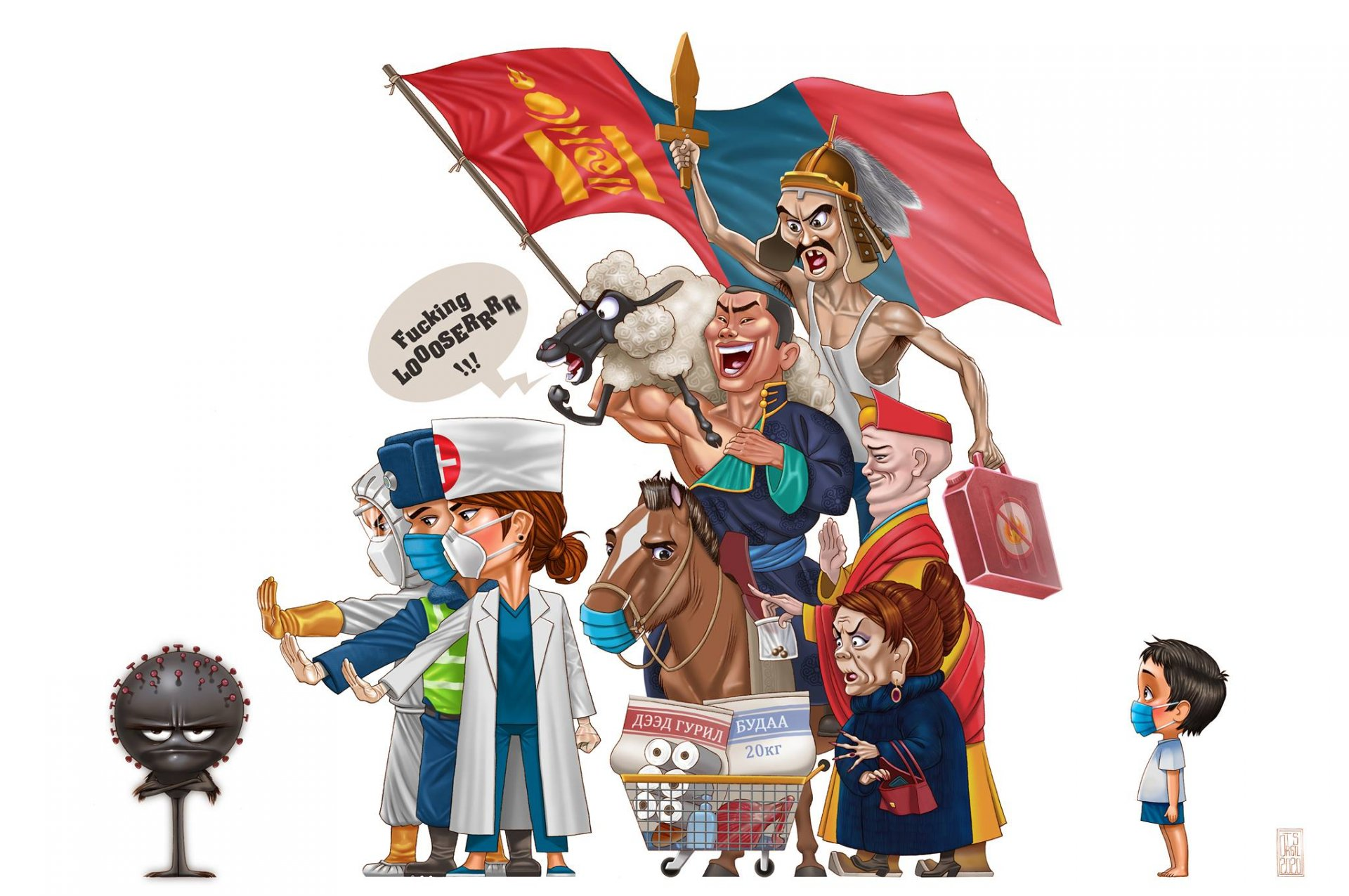 Updates of Covid-19 situations in Mongolia/ August