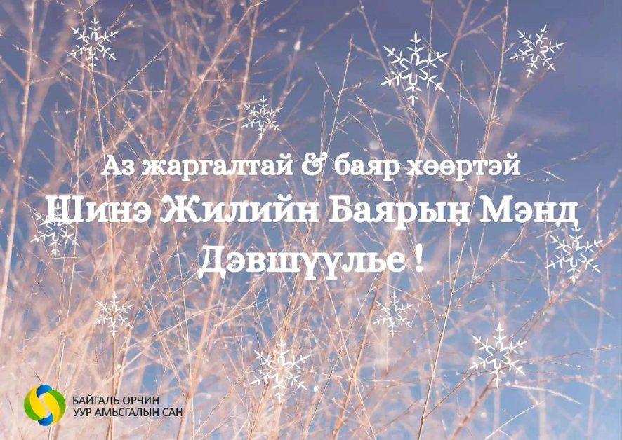 Танд амжилт бүтээлийн дээдийг ерөөж шинэ оны мэнд дэвшүүлье!