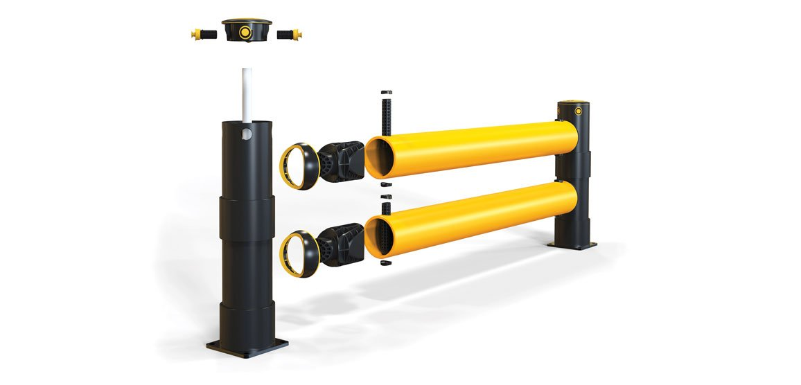 Patented coupling technology linking our barriers is completely unique.