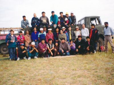 Clients and Mongolian crew