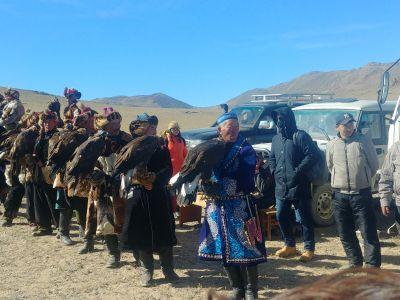 Eagle hunters parade