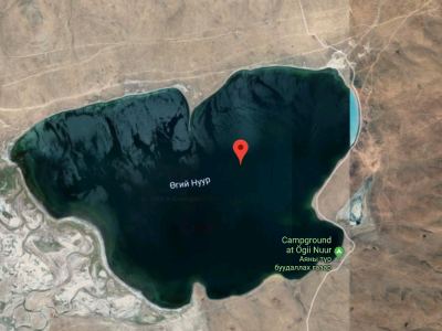 Ugii Lake satellite photo