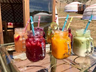 refreshing drinks server at Ger Lounge