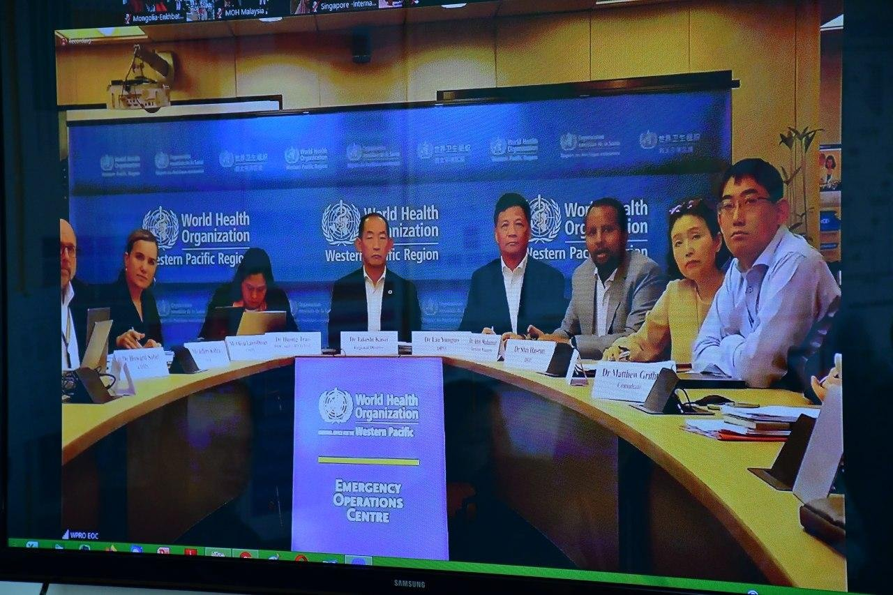 ДЭМБ-ын Номхон Далайн Баруун Бүсийн захирал Такэши Касай, бүсийн орнуудын Эрүүл мэндийн сайд нартай онлайн хурал хийлээ