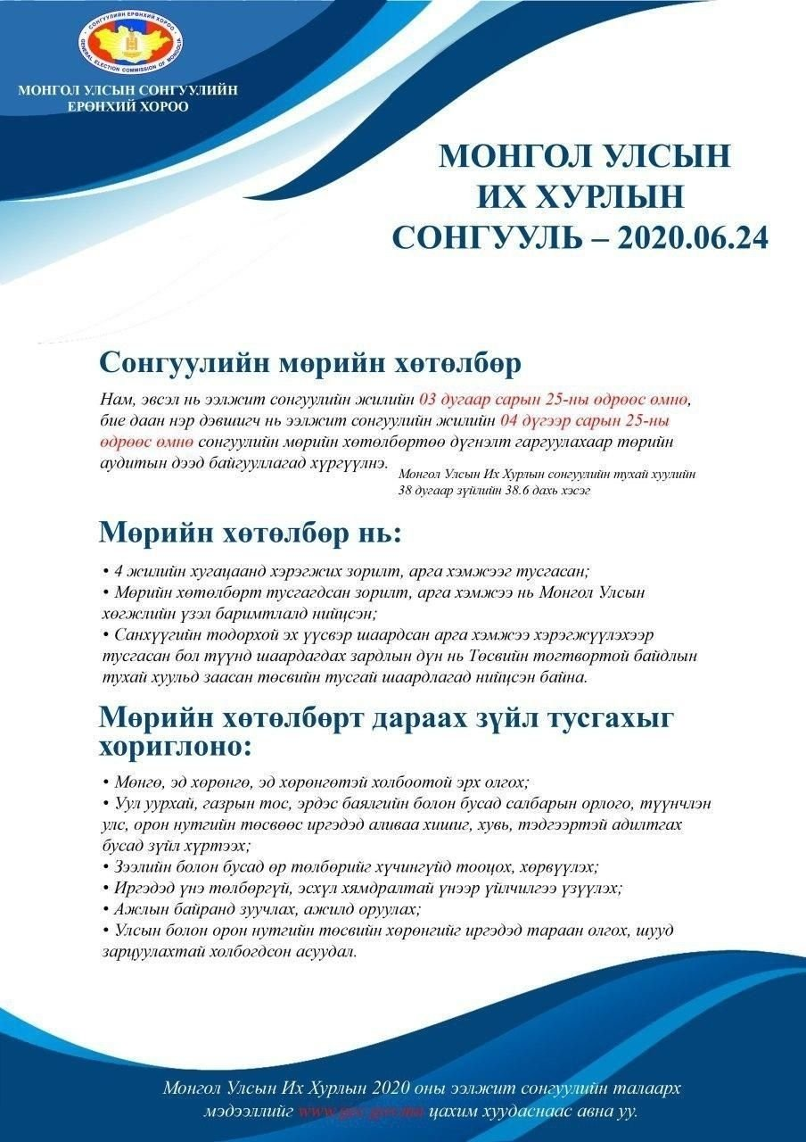 СЕХ: Нам, эвслүүд гуравдугаар сарын 25-наас өмнө мөрийн хөтөлбөрөө Үндэсний аудитын газарт хүргүүлнэ