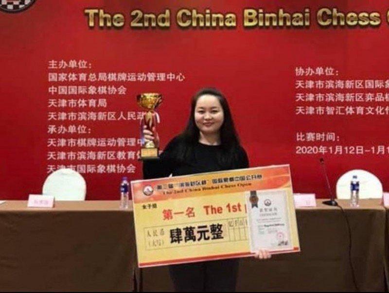 """Монгол Улсын гавьяат тамирчин Б.Мөнгөнтуул """"Binhai Chess Open""""-д түрүүлжээ"""