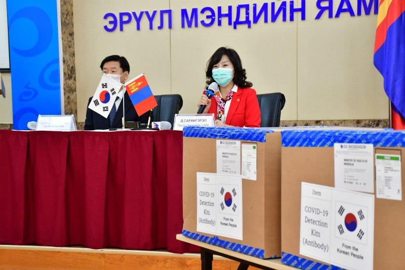 БНСУ-ын Засгийн газраас КОВИД-19 коронавирусын халдварын түргэвчилсэн оношлуур хандивлав
