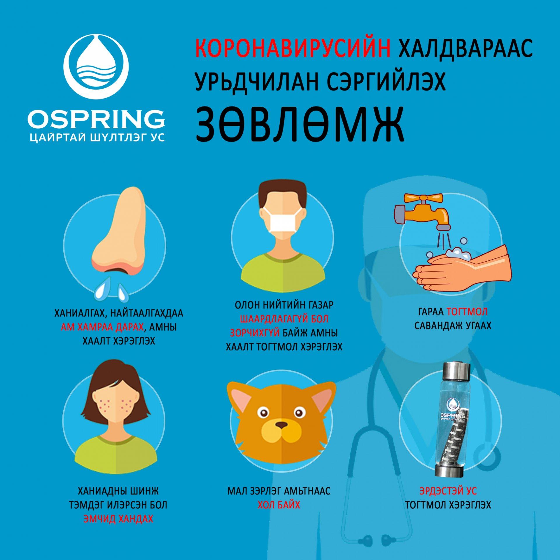 Коронавирусийн халдвараас урьдчилан сэргийлье!
