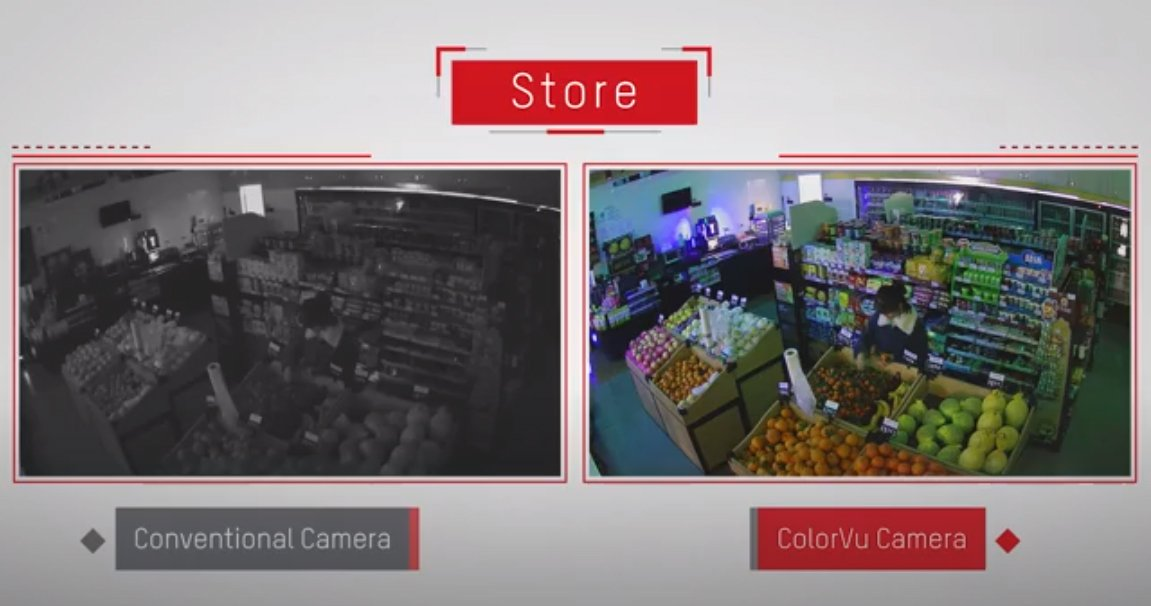Энгийн камер ба Color Vu камерын харьцуулсан үзүүлэлт