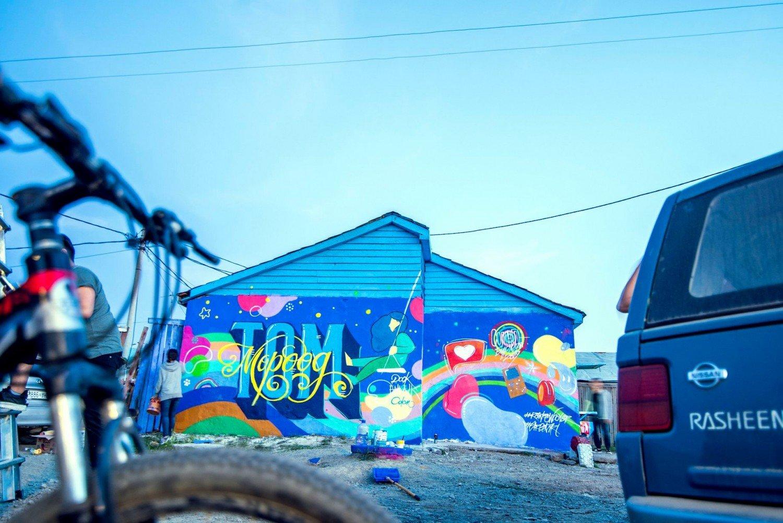 Гудамжны зураг зурдаг уран бүтээлчид гэр хороололд өнгө нэмж байна