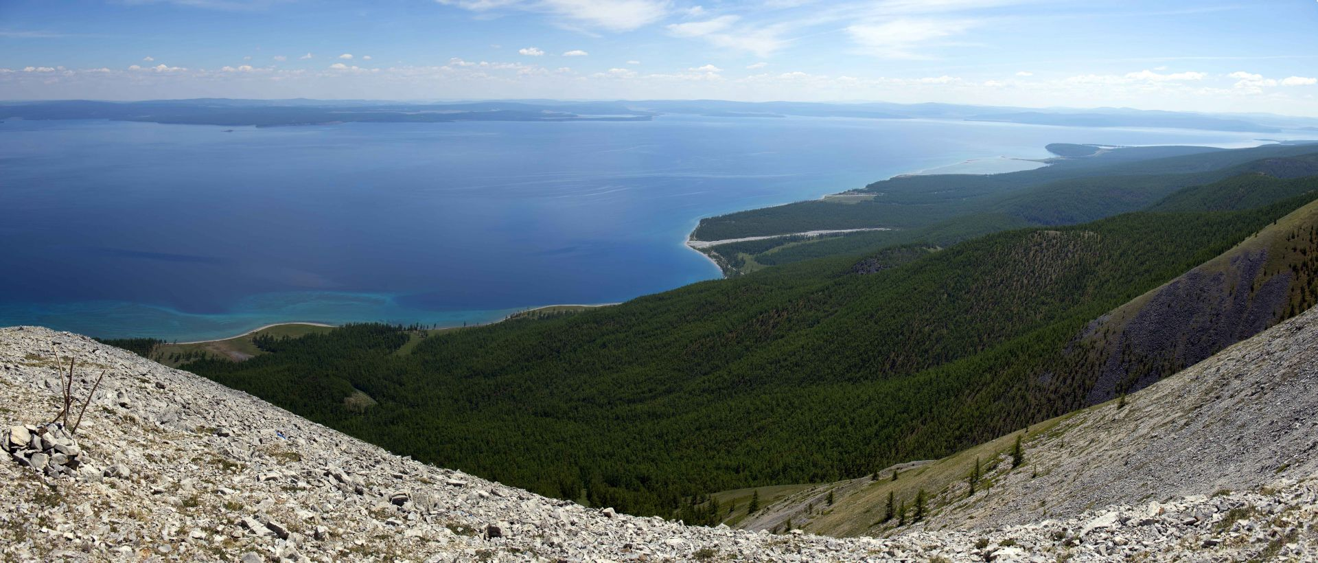 by west shore of Khuvsgul lake