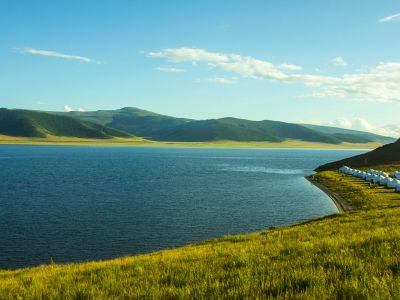 amazing scenery of Terkh White Lake
