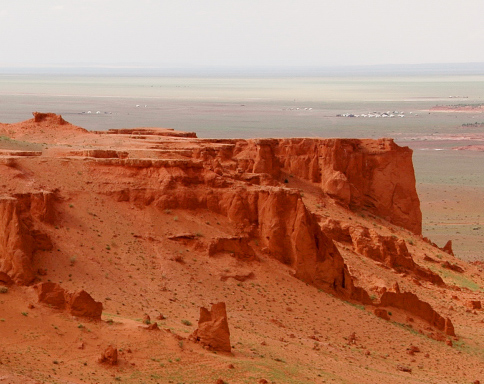 Remains here and there in the Gobi Desert show ancient history