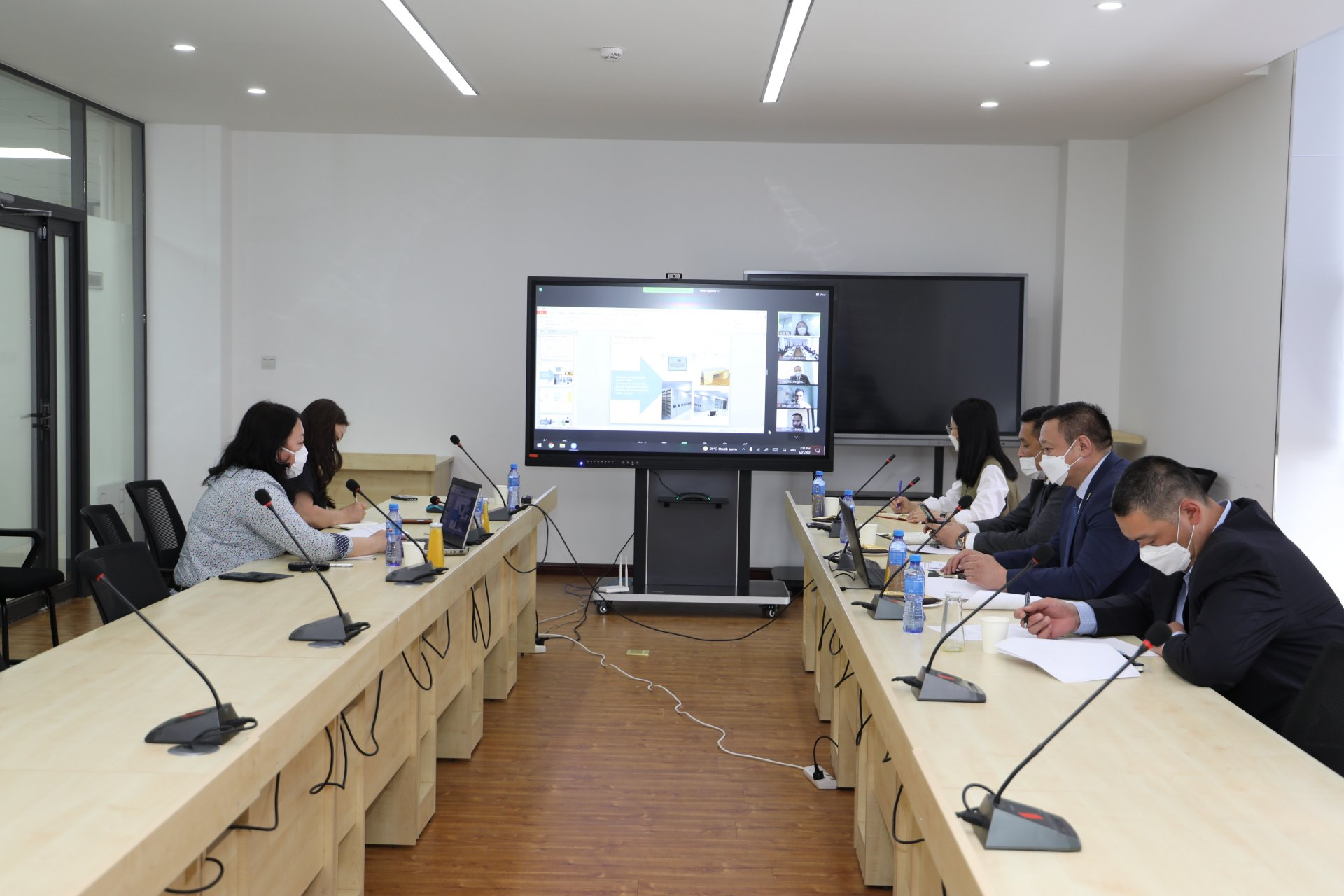 An online meeting with representatives of the ADB