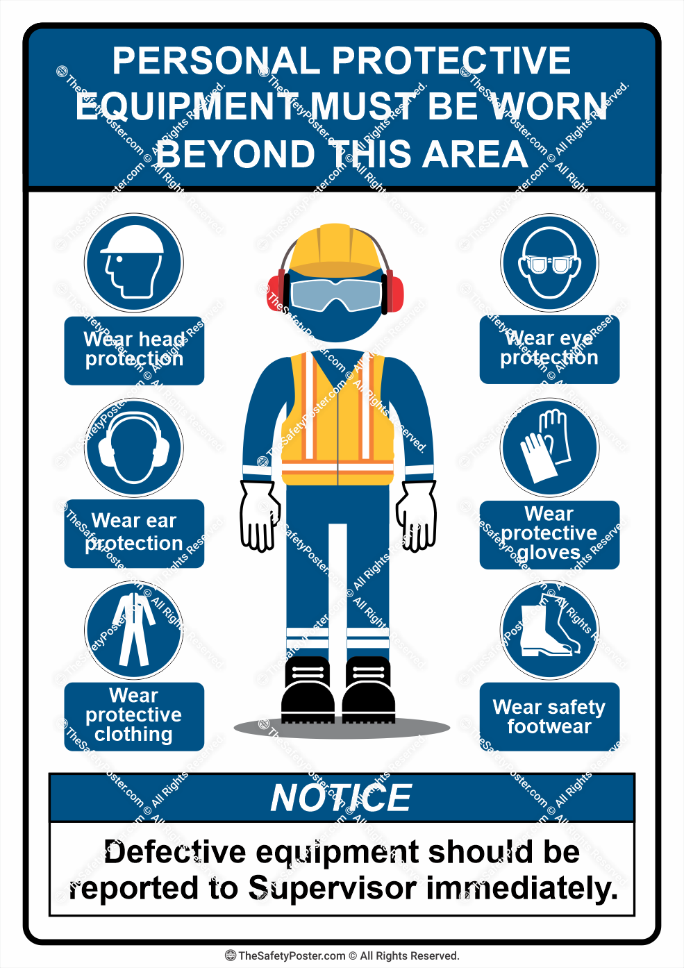Personal Protective Equipment must be worn beyond this area