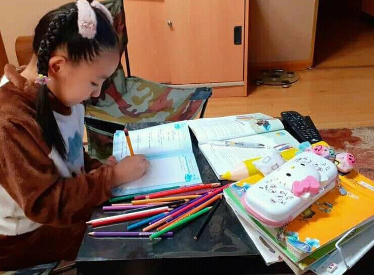 Children's book author O. Sundui is conducting online meetings throughout the country during the quarantine time because of Covid-19