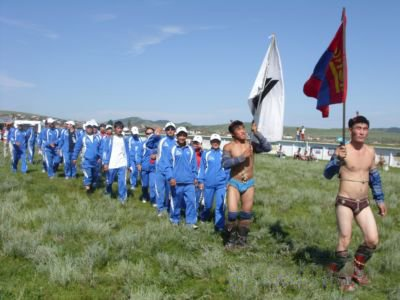 Traditional wrestling competition held at tavantolgoi