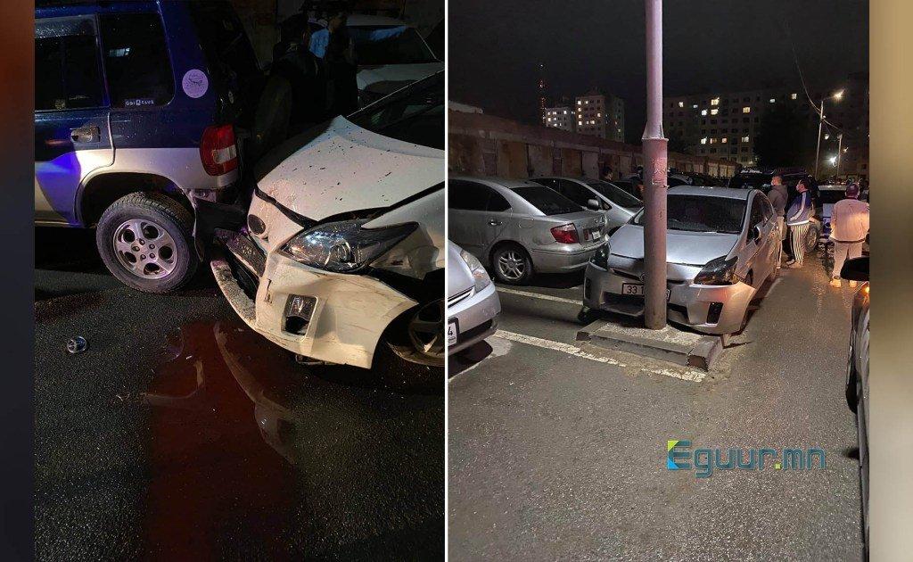 Зогсоолд байсан 10 гаруй машин мөргөсөн жолооч, согтууруулах ундаа хэрэглэсэн байж болзошгүй.