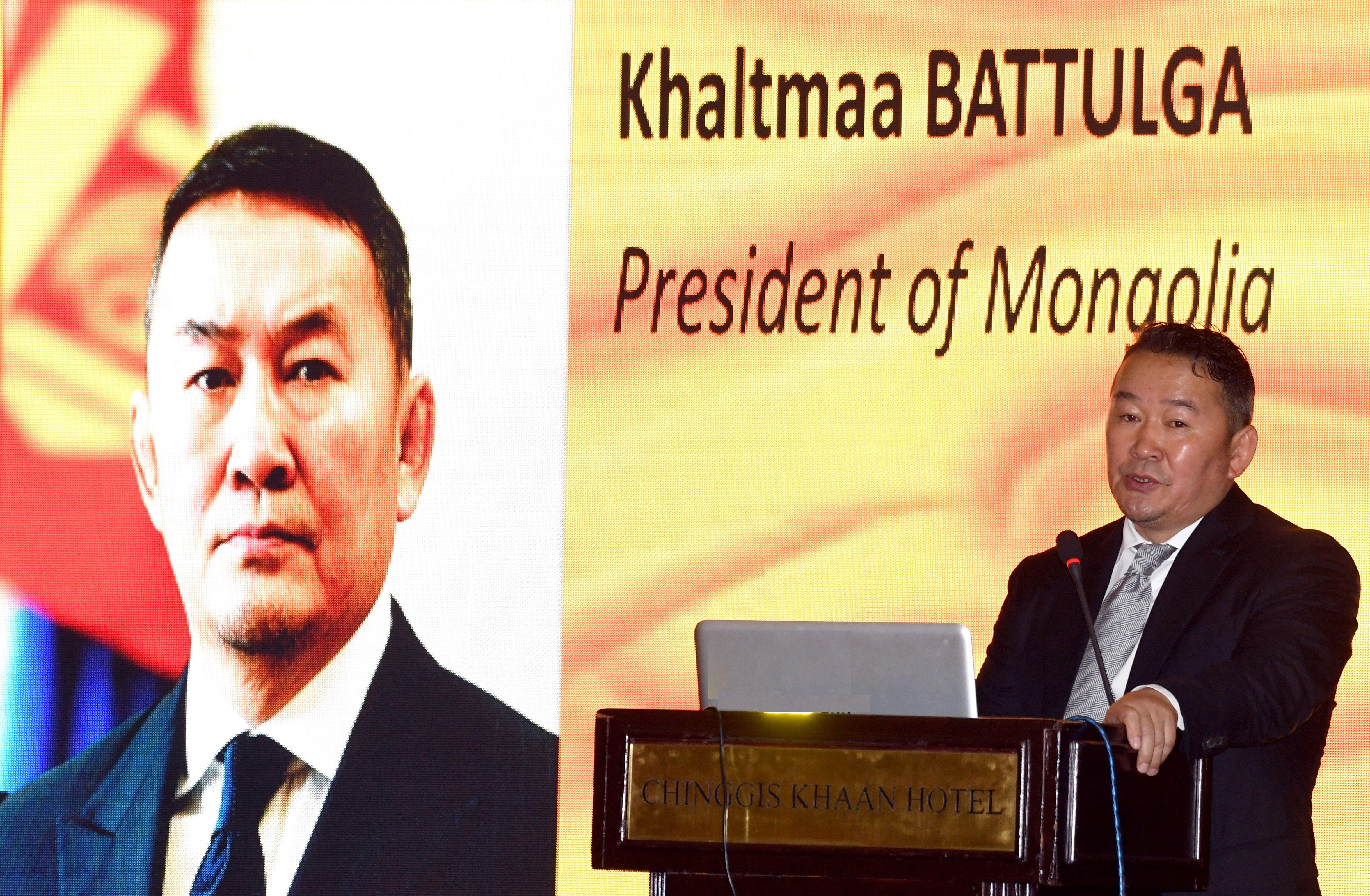 Монгол Улсын Ерөнхийлөгч Х.Баттулга Япон-Монголын хамтарсан олон улсын онол практикийн хуралд оролцож, үг хэллээ