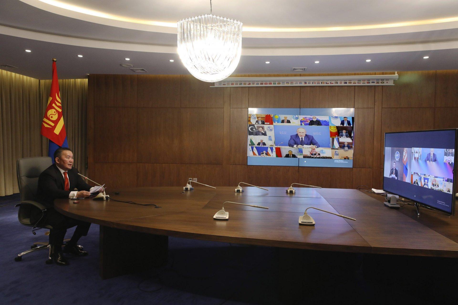 Ерөнхийлөгч Х.Баттулга ШХАБ-ын өргөтгөсөн цахим хуралдаанд оролцож үг хэллээ