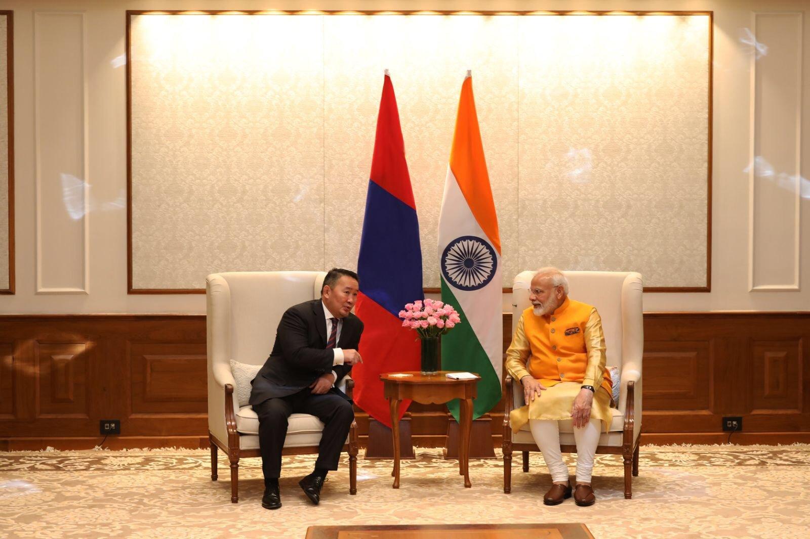 Ерөнхийлөгч Х.Баттулга, Бүгд Найрамдах Энэтхэг улсын Ерөнхий сайд Нарендра Моди нар уулзлаа