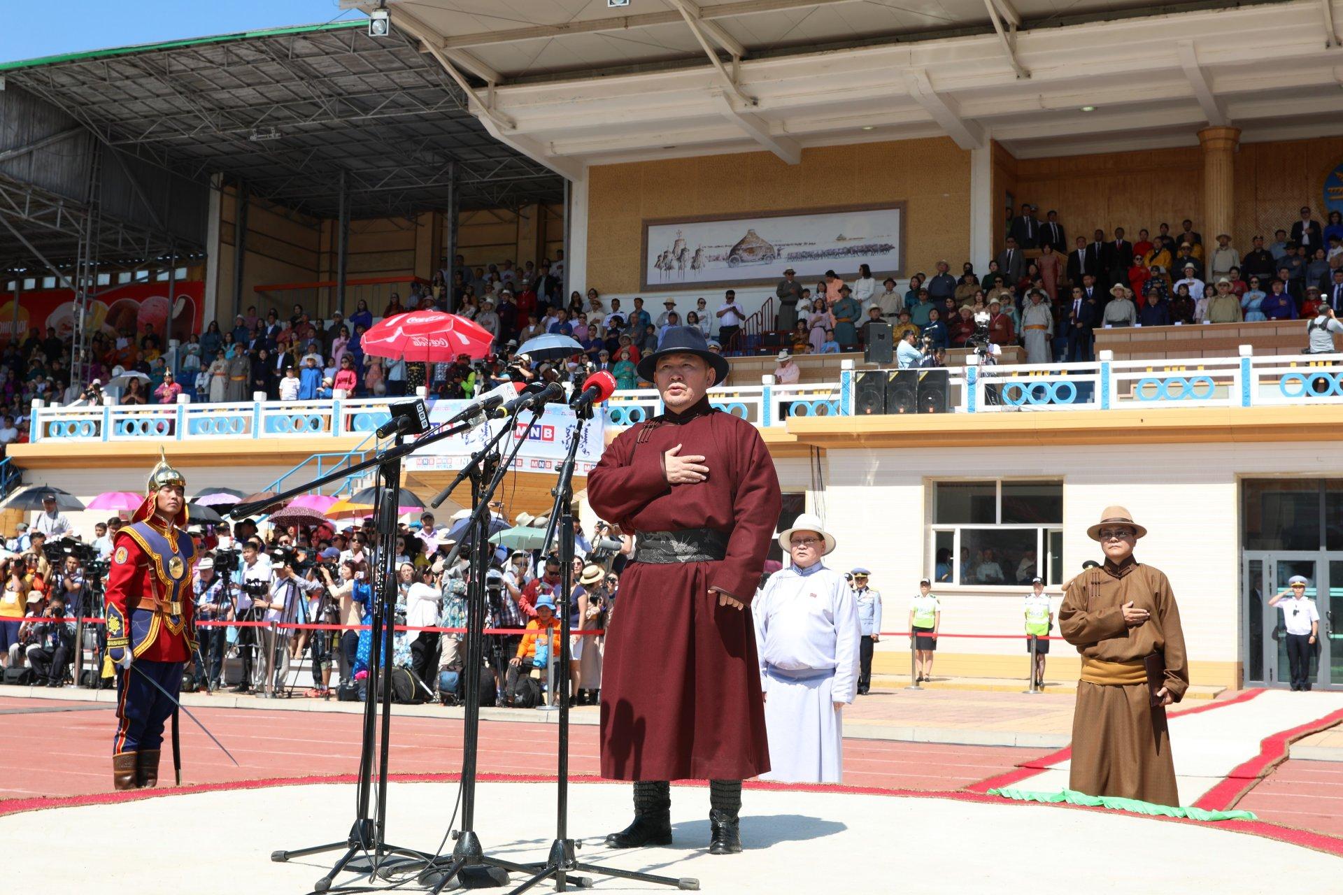 Х.Баттулга: Монгол төрийн их наадам нь Та биднийг бие сэтгэлээрээ жинхэнэ монгол хүн хэмээн ойлгуулж, ижилсүүлдэг баяр юм