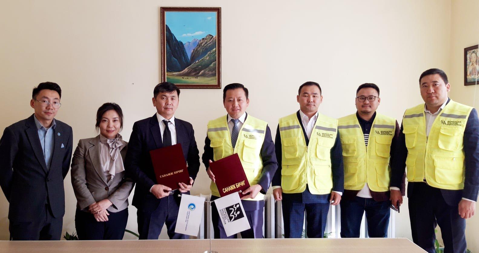 НЭМҮТ Монголын Явган Алхалтын Холбоотой хамтран ажиллана