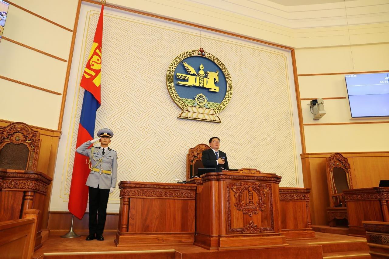УИХ-ын 2019 оны ээлжит бус чуулганыг хааж, Монгол Улсын Их Хурлын дарга Г.Занданшатарын хэлсэн үг