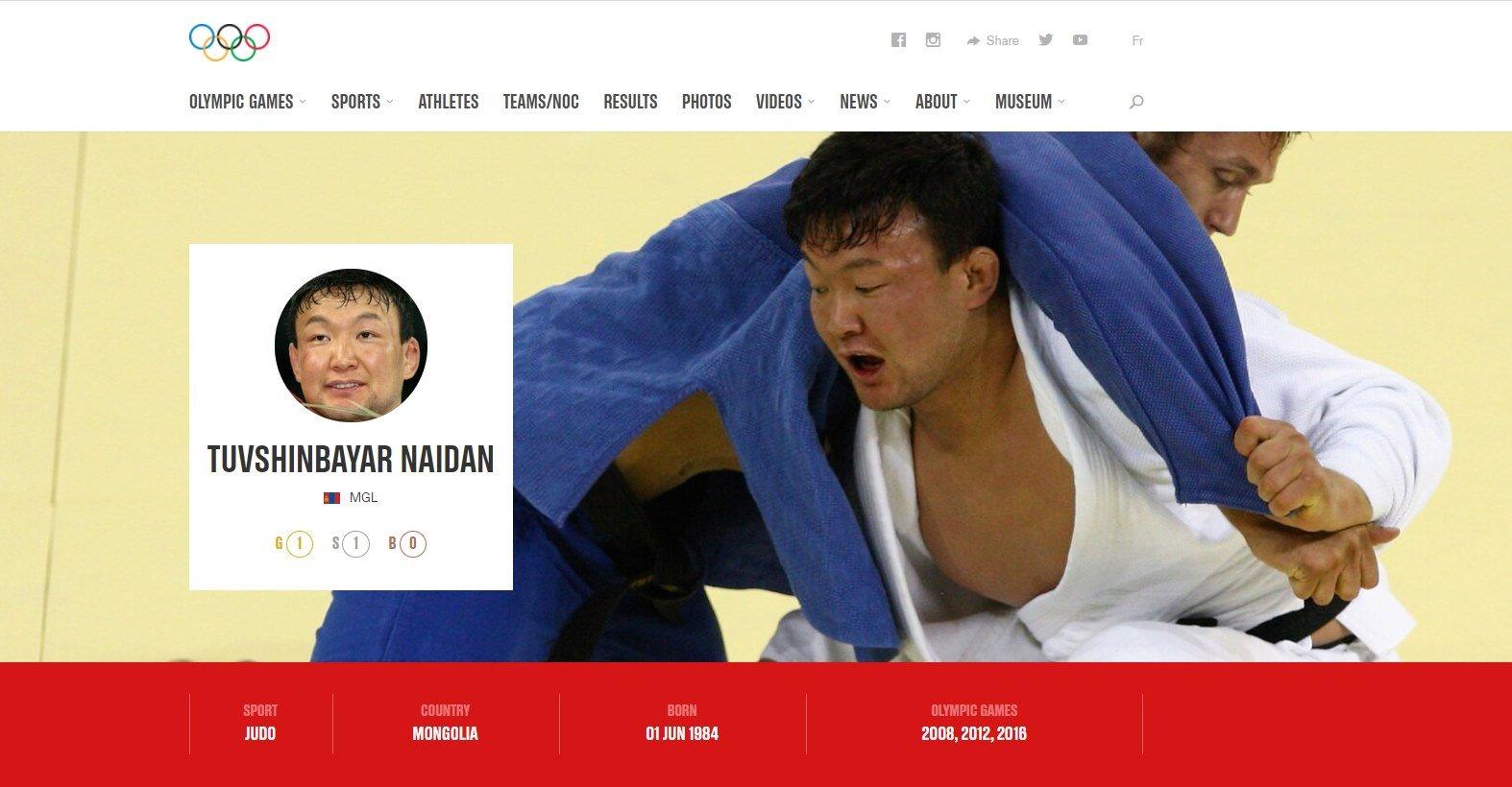 МҮОХ: Н.Түвшинбаярын олимпийн алт, мөнгөн медалийг хураах асуудал хөндөгдөхгүй