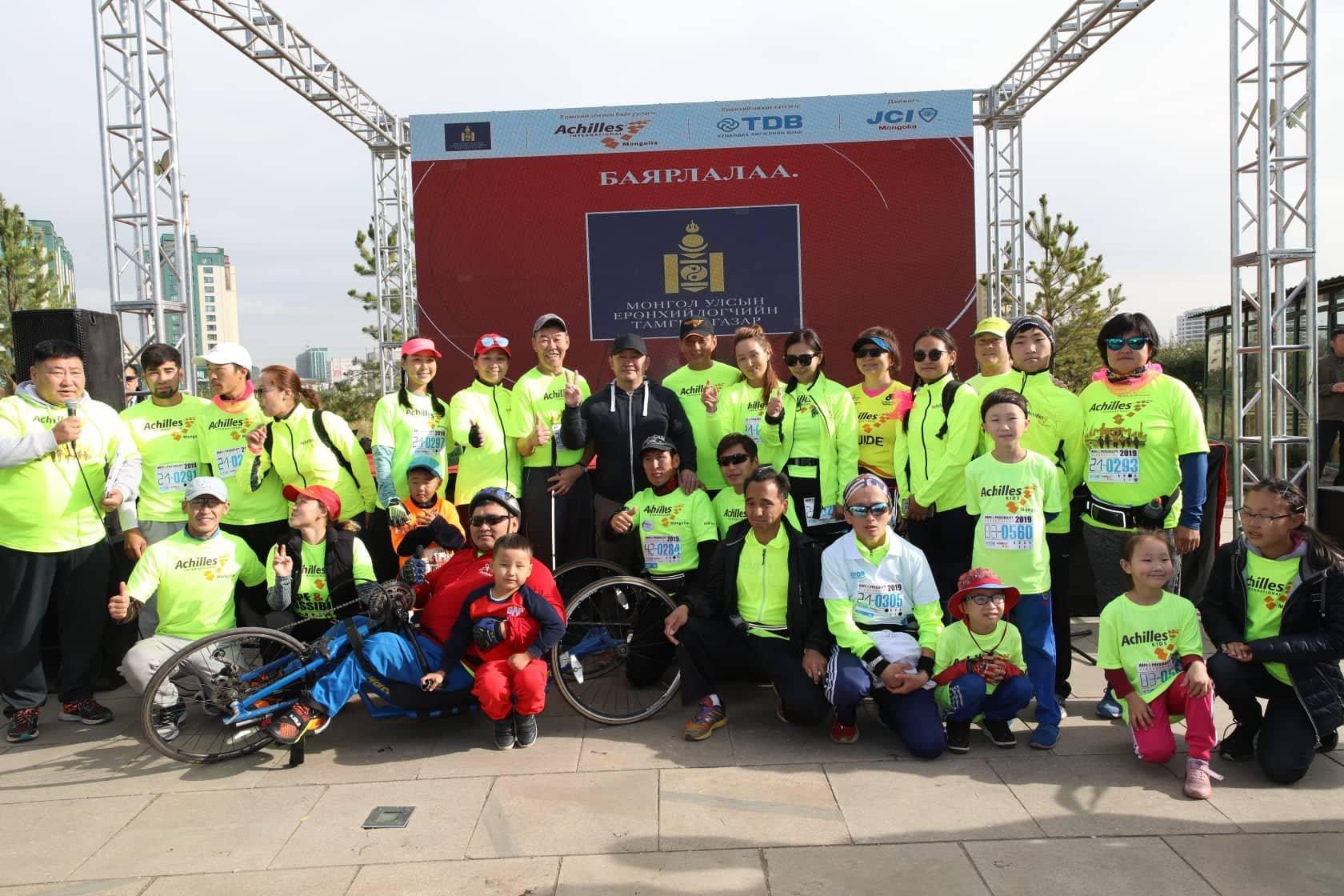 """Ерөнхийлөгч """"Итгэл найдвар, боломж – Улаанбаатар 2019"""" марафонд оролцов"""