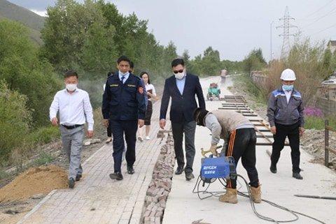 Хан-Уул дүүрэгт дугуйн зам бүхий эко зурвас удахгүй ашиглалтад орно